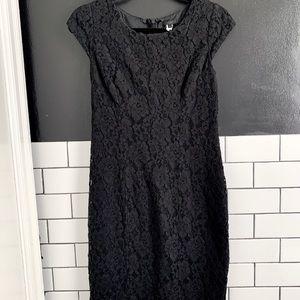 Black Lace Cocktail Dress by J. Crew
